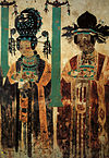 Khotanese donor ladies. Dunhuang cave 61.jpg